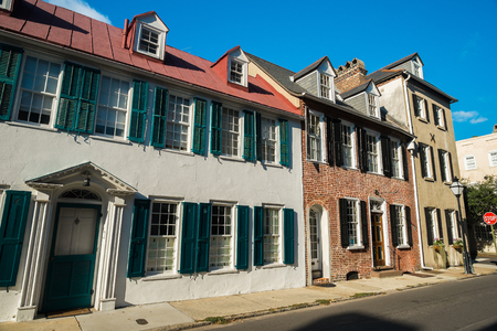 charleston: Historic southern french style architecture in Charleston, South Carolina.