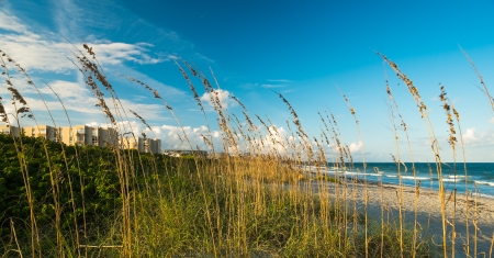gramineous: Beautiful Cocoa Beach, Florida with blue sky and clouds.
