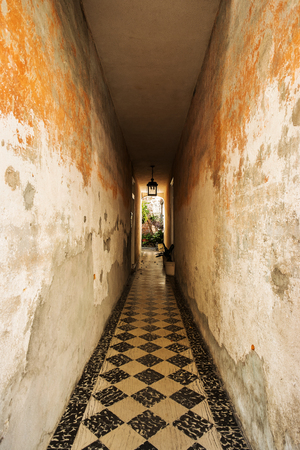 Rustic hallway in the French Quarter in Charleston, South Carolina. photo