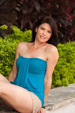 Beautiful woman outdoor portrait. photo