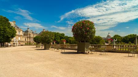 Historische Luxemburgse Tuinen in Parijs, Frankrijk.