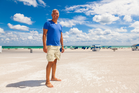 male age 40's: Handsome middle age man enjoying Miami Beach.