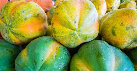 papaw: Freshly picked papaya fruit from Florida