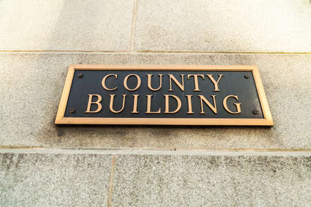 County Building sign on a municipal office building.