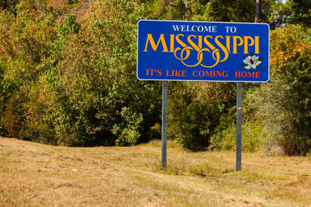 Mississippi state sign along the roadside