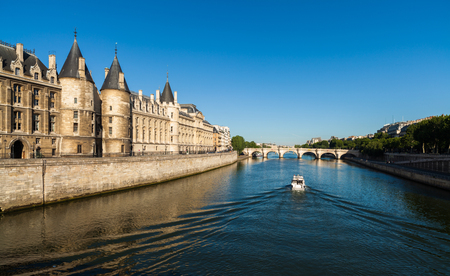 The beautiful River Seine in Paris, France