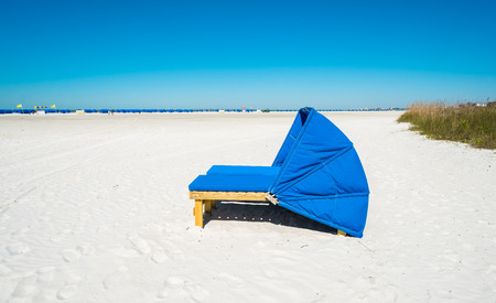 cabana: Cabana along popular Fort Myers Beach on the west coast of Florida. Stock Photo
