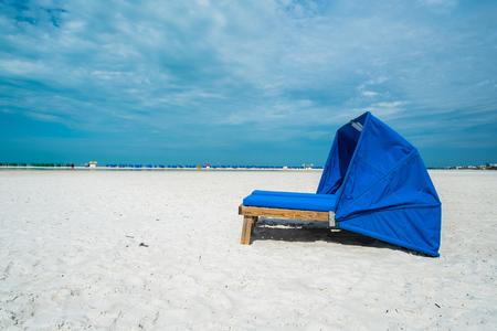 cabana: Cabana along popular Fort Myers Beach on the west coast of Florida