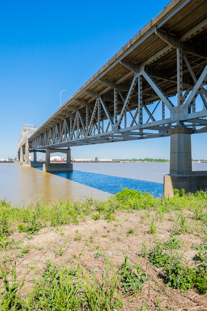 Baton Rouge bridge on Interstate Ten over the Mississippi River in Louisiana. photo