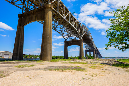 south coast: Large bridge on Interstate Ten over the Gulf coast area between Louisiana and Texas.