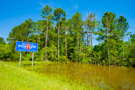 mississippi: Mississippi state sign along the roadside Stock Photo