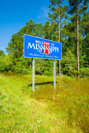 Mississippi state sign along the roadside photo