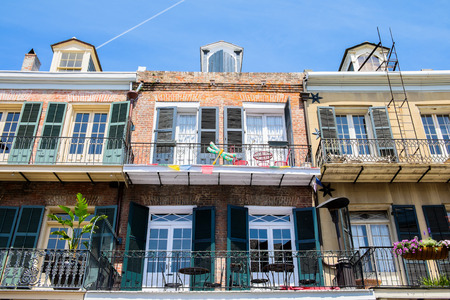 Colorful architecture in the French Quarter in New Orleans, Louisiana. Zdjęcie Seryjne