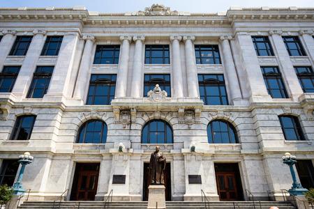orden judicial: Edificio de la Corte Suprema del Estado en el barrio francés de Nueva Orleans, Louisiana.