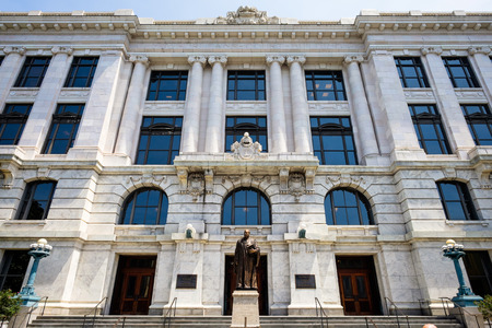 architrave: State Supreme Court building in the French Quarter in New Orleans, Louisiana.