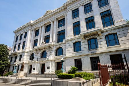 mandato judicial: Edificio de la Corte Suprema del Estado en el barrio franc�s de Nueva Orleans, Louisiana.