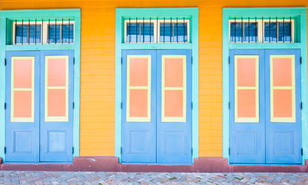 Colorful architecture of the French Quarter in New Orleans, Louisiana  版權商用圖片