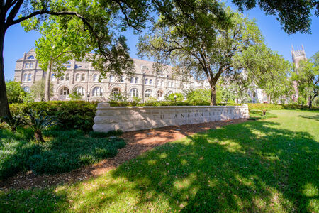 university building: NEW ORLEANS, LOUISIANA USA - MAY 4,2014: Tulane University, founded in 1834, is a private nonsectarian research university located in New Orleans. Editorial