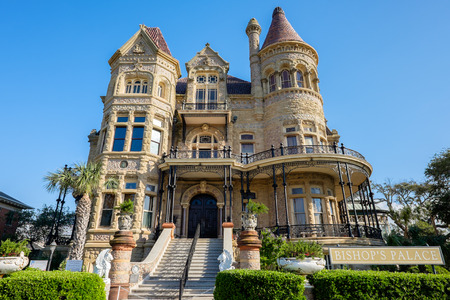 multi story: GALVESTON, TEXAS USA - MAY 6, 2014: The famous Bishops Palace in Galveston was built by Colonel Walter Gresham and architect Nicholas Clayton.  The extravagantly decorated house is a Victorian adaptation of the classic Renaissance style. Editorial