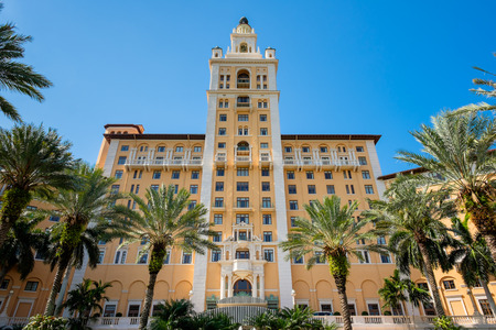 spanish style: CORAL GABLES, FL USA - MAY 23, 2014: The historic and luxurious Spanish style Biltmore Hotel built in 1925 located in Coral Gables.