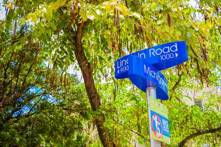 Lincoln Road and Michigan Avenue street signs located in Miami Beach  photo