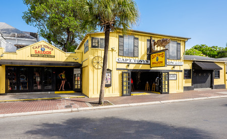 KEY WEST, FLORIDA USA - JUNE 26, 2014: The historic Captain Tonys Saloon, the original site of Sloppy Joes, in downtown Key West.
