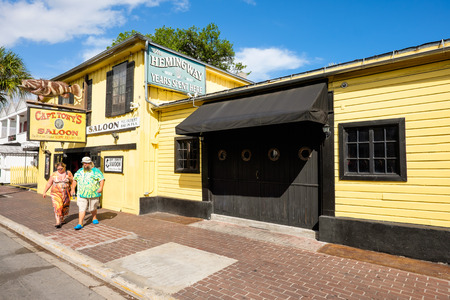 ernest hemingway: KEY WEST, FLORIDA USA - JUNE 26, 2014: The historic Captain Tonys Saloon, the original site of Sloppy Joes, in downtown Key West.