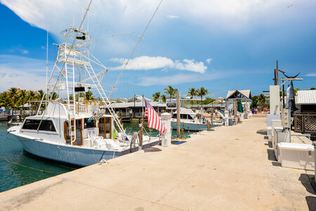 bight: KEY WEST, FLORIDA USA - JUNE 26, 2014  Charter boats available for hire at the Bight Marina in Key West