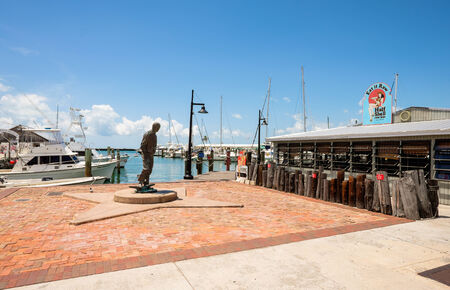 bight: KEY WEST, FLORIDA USA - JUNE 26, 2014  Popular Bight Marina with restaurants and charter boats available for hire in Key West