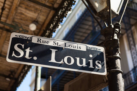 Saint Louis street sign in the French Quarter in New Orleans, Louisiana.