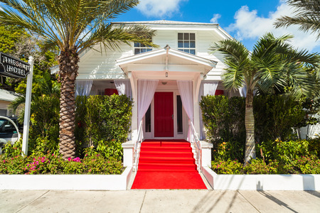 Key West, Florida USA - March 2, 2015: The beautifully restored Saint Hotel located in the Historic District of Key West.