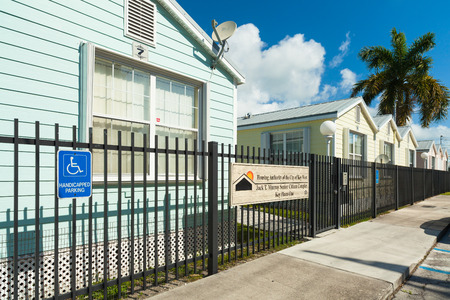 retirement community: Key West, Florida USA - March 2, 2015: The Jack T. Murray Senior Citizen Complex in the Bahama Village District of Key West. Editorial
