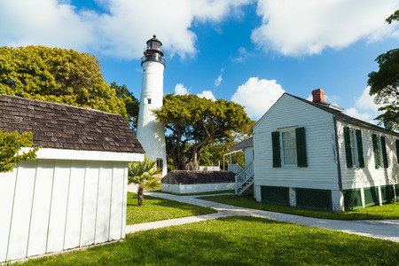 key: Key West, Florida USA - March 2, 2015: The historic Key West Lighthouse and Museum located on Whitehead Street.