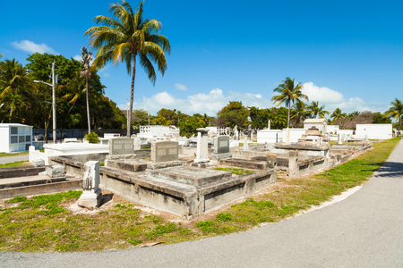 founded: Key West, Florida USA - March 5, 2015: The Key West Cemetery located in the Historic District was founded in 1847. Editorial