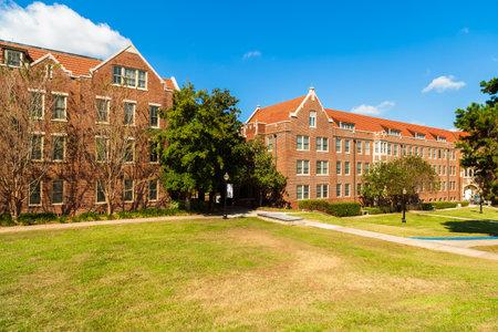 dormitory: Classic college dormitory style architecture.