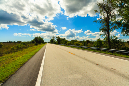 everglades: Beautiful landscape of United States Highyway 41 in the Florida Everglades.