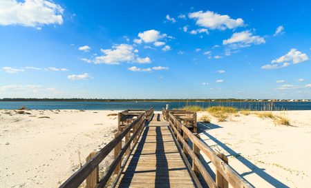 florida landscape: Beautiful Perdido Beach in Pensacola, Florida.