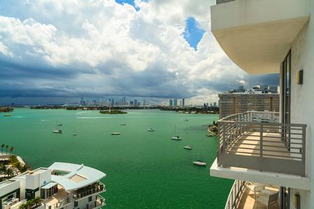 apartment: Apartment view of popular Miami Beach.
