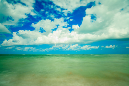 key biscayne: Long exposure of the beautiful Crandon Park Beach located in Key Biscayne in Miami.