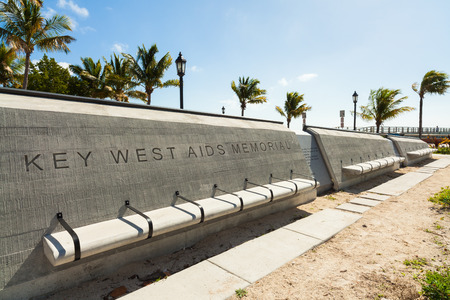 key west: The Key West Aids Memorial located at the entrance of the White Street Pier in Key West, Florida. Editorial
