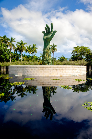 enduring: Miami Beach, Florida USA - September 25, 2015:  The beautiful Holocaust Memorial was completed in 1990 as an enduring tribute to all the lives lost during the holocaust.