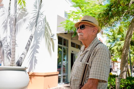 octogenarian: Elderly 80 plus year old man in a outdoor setting.