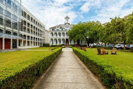 university building: New Orleans, LA USA - April 21,2016: Loyola  University, founded in 1904, is a coeducational private Jesuit institution located on historic Saint Charles Avenue.