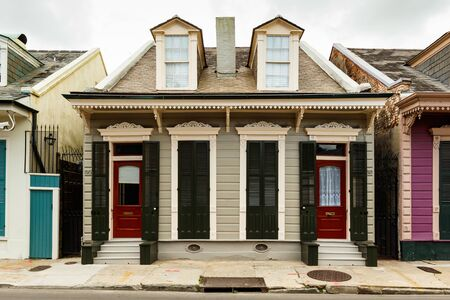 apartment building: New Orleans, LA USA - April 20, 2016: A beautifully restored home in the historic French Quarter district. Editorial