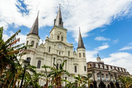 french quarter: The beautiful Saint Louis Cathedral in the French Quarter in New Orleans, Louisiana.