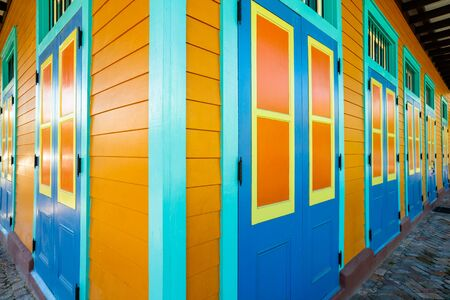 french quarter: Colorful architecture in the French Quarter in New Orleans, Louisiana. Editorial