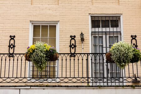 french quarter: Colorful architecture in the French Quarter in New Orleans, Louisiana. Stock Photo