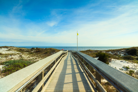 panama city beach: Boardwalk leading to a beautiful North Florida panhandle beach.