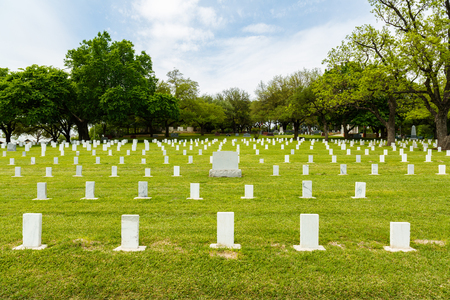 unmarked: Unmarked graves in the Texas State Cemetery in Austin.