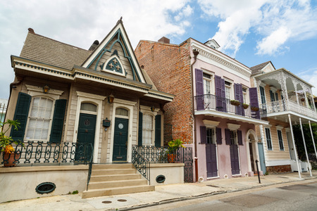 Beautiful architecture of the French Quarter in New Orleans, Louisiana.
